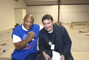 Interviewing one of the greatest athlets of all time, George Foreman. Foto: Thomas Nilsson.
